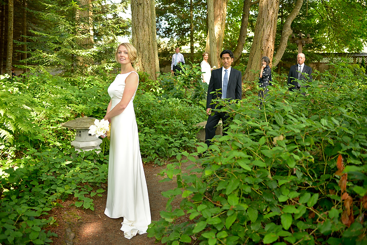 japanese garden mayne island british columbia wedding
